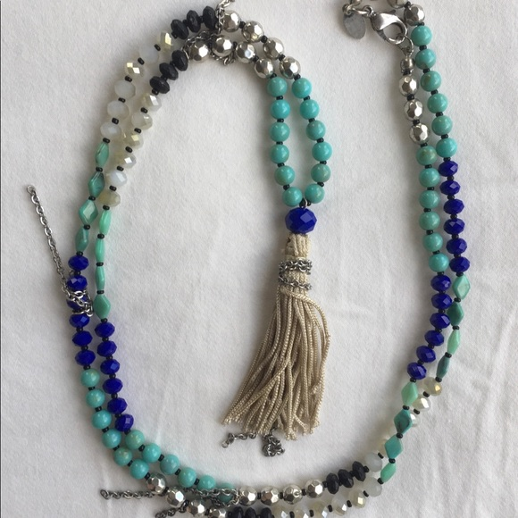 Express Long Blue Necklace